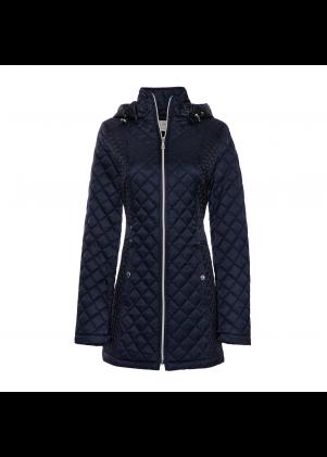 Women's Allover Quilt Jacket with Adjustable Hood