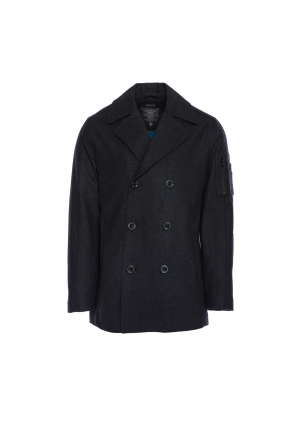 Charcoal Wool Peacoat