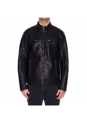 Men's Faux Leather Jacket