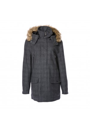 Plaid Hooded Parka