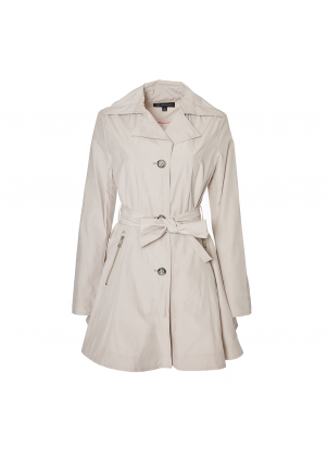 Button Front Trench with Self Tie Belt