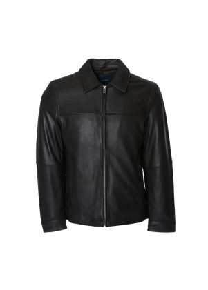 Nautica Men's Genuine Leather Coat