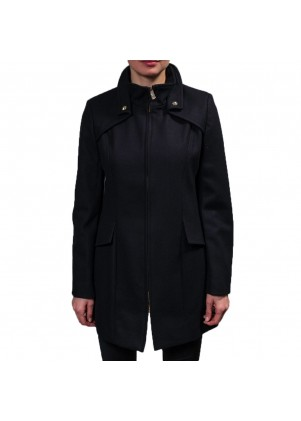 Women's Wool Zip Front Coat