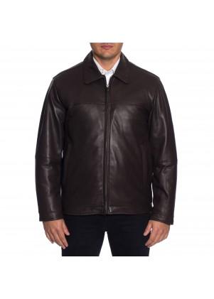 Perry Ellis Men's Genuine Lamb Leather Jacket