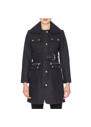 Laundry by Shelli Segal Belted Wool Coat