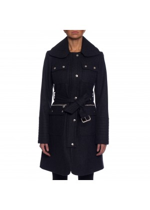 Laundry Womens Snap Front Melton Wool Coat