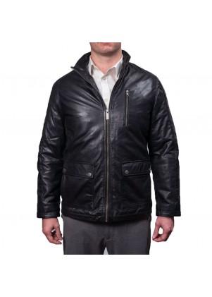 Nautica Genuine Leather Zip Front Jacket
