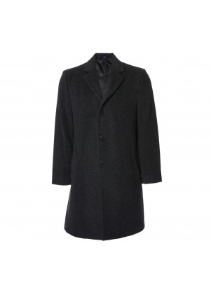 Charcoal Wool Cashmere Coat